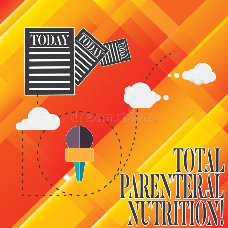 Handwriting teksta sumy Pozajelitowy odżywianie Pojęcia znaczenie natchnie odmianową formę jedzenie przez żyły informacji ilustracji