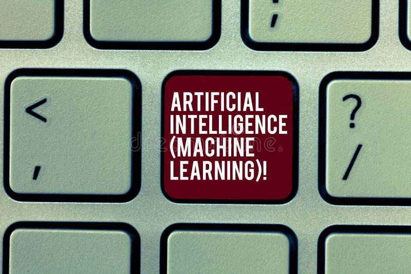 Handwriting teksta Sztucznej inteligencji Maszynowy uczenie Pojęcie znaczy Opóźnionych technologia roboty gawędzi larwy klawiatur zdjęcia stock