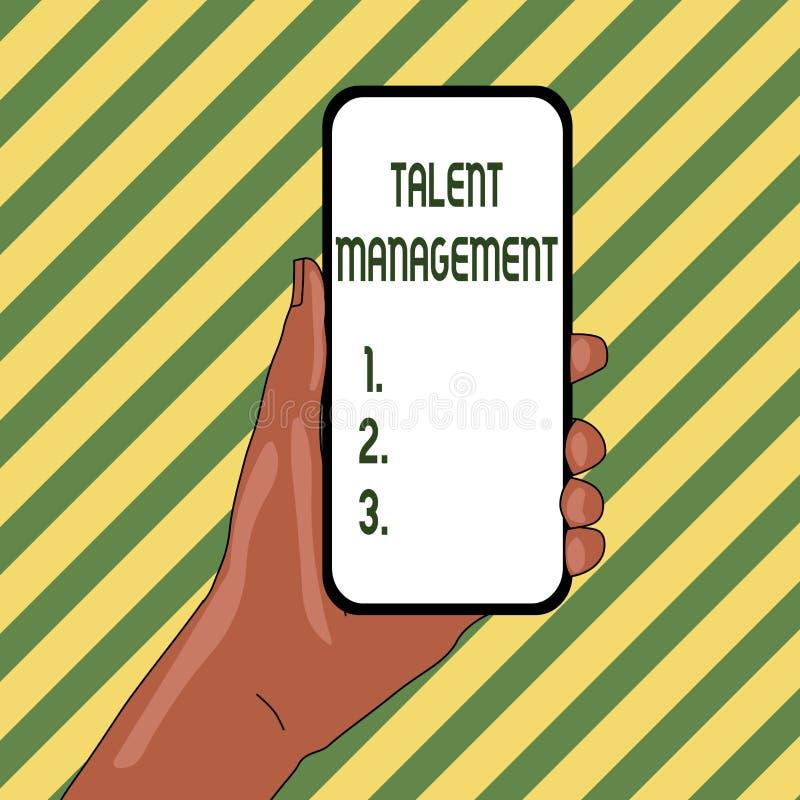 Handwriting teksta talentu zarządzanie Pojęcia znaczenia nabywanie zatrudnia utalentowanego pracownika zbliżenie i utrzymuje royalty ilustracja