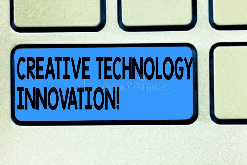 Handwriting teksta technologii Kreatywnie innowacja Pojęcia znaczenie spuszczać ze smyczy umysł poczynać nowych pomysłów Klawiatu ilustracja wektor
