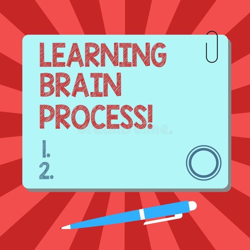 Handwriting teksta uczenie mózg proces Pojęcia znaczenia nabywanie nowy lub modyfikuje istniejącą wiedzy pustego miejsca kwadrata ilustracja wektor