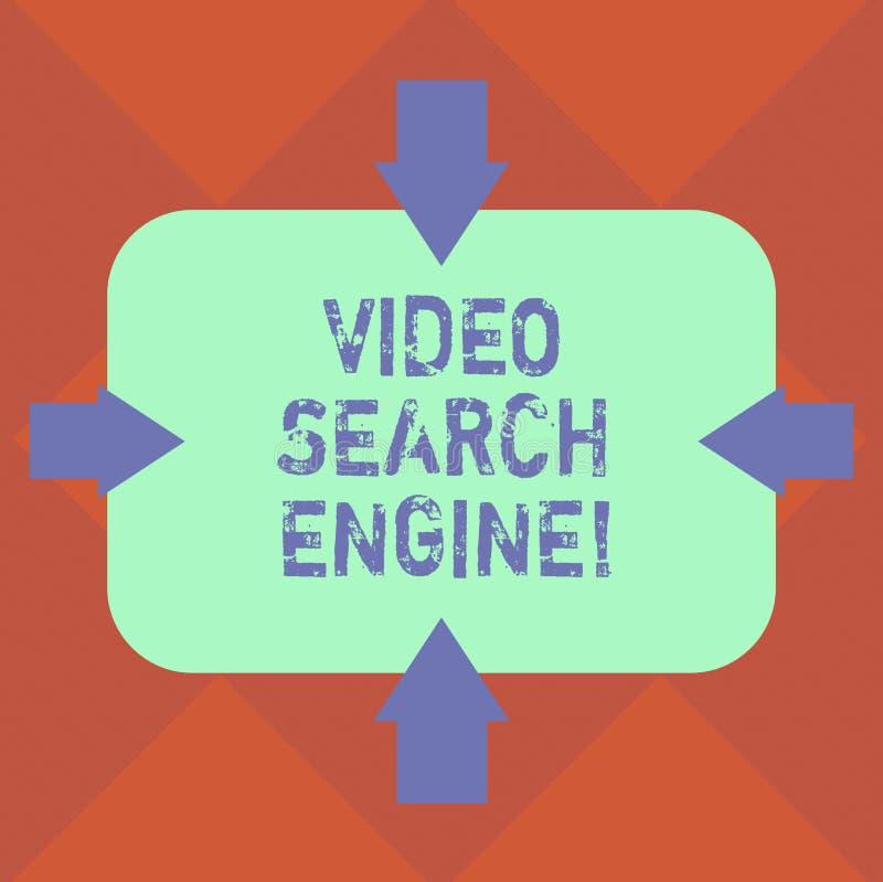 Handwriting teksta wideo wyszukiwarka Pojęcia znaczenie który czołgać się sieć dla środków i audio zadowolonych strzał na Cztery  ilustracji