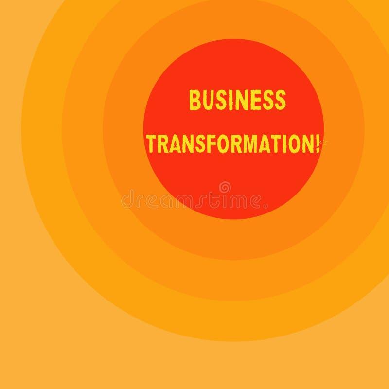 Handwriting teksta writing biznesu transformacja Pojęcia znaczenie Robi zmianom w conduction firmy ulepszenie ilustracji