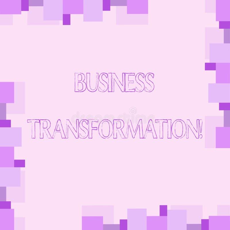 Handwriting teksta writing biznesu transformacja Pojęcia znaczenie Robi zmianom w conduction firmy ulepszenie royalty ilustracja