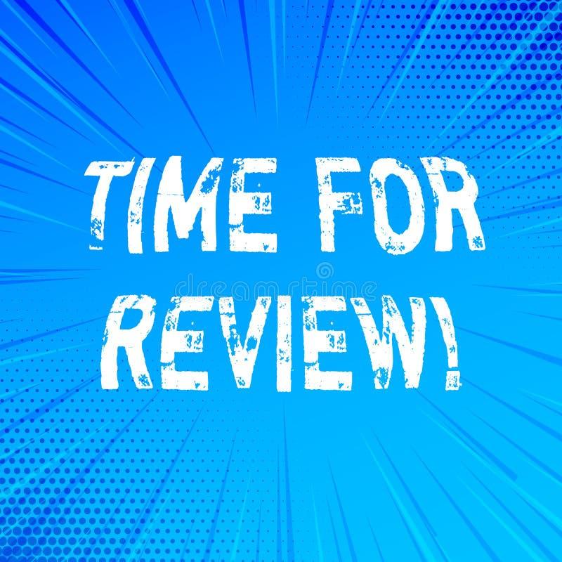 Handwriting teksta writing czas Dla przeglądu Pojęcia znaczenia informacje zwrotne momentu Perforanalysisce Szacunkowy tempo Ocen ilustracja wektor