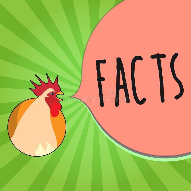 Handwriting teksta writing fact Pojęcia znaczenia informacja używać jako dowód lub część raportowy artykułu prasowego blog ilustracja wektor
