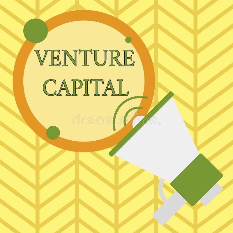 Handwriting teksta writing kapita? inwestycyjny Poj?cia znaczenia finansowanie provided firmami ma?a wczesna faza ones ilustracja wektor