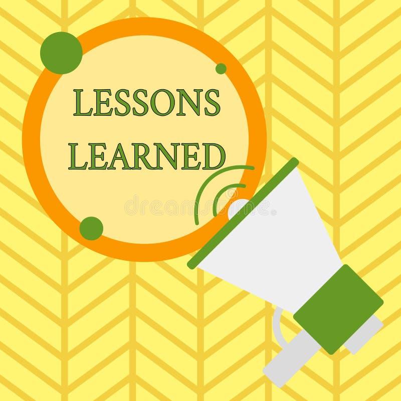 Handwriting teksta writing lekcje Uczyli si? Poj?cia znaczenia informacja odbija pozytywnych i negatywnych do?wiadczenia ilustracja wektor