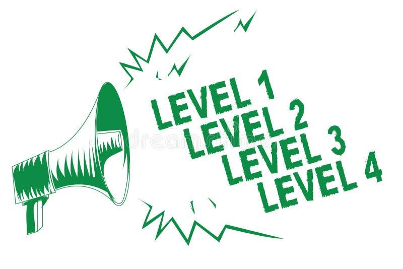 Handwriting teksta writing pozioma 1 pozioma 2 pozioma 3 poziom 4 Pojęcia znaczenia kroków poziomy proces pracy przepływ Zielenie ilustracji
