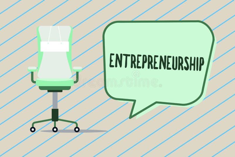 Handwriting teksta writing przedsiębiorczość Pojęcia znaczenia proces wszczyna nowego biznes i biega projektować ilustracji