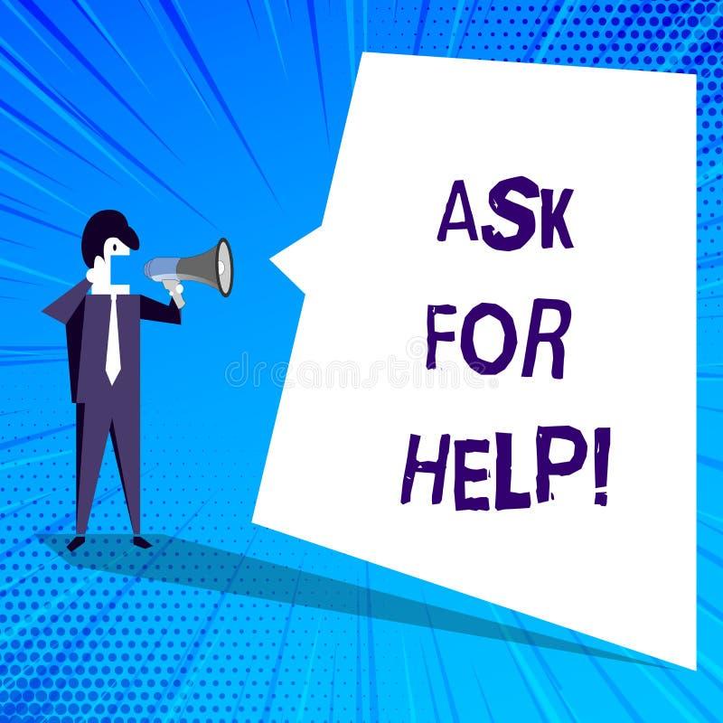 Handwriting teksta writing Pyta Dla pomocy Pojęcia znaczenia prośba poparcie pomoc potrzebował Fachową radę royalty ilustracja