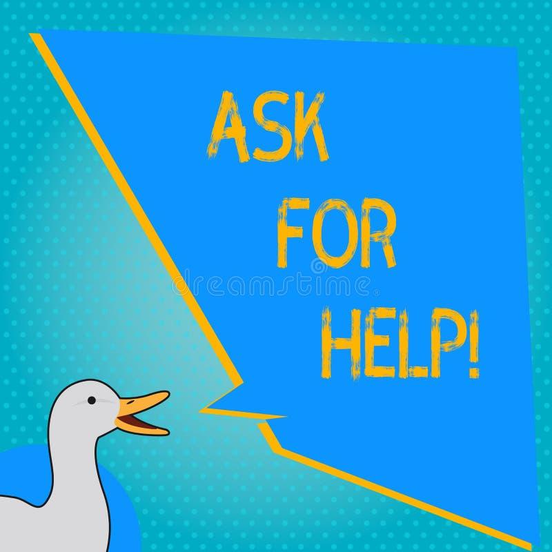 Handwriting teksta writing Pyta Dla pomocy Pojęcia znaczenia prośba poparcie pomoc potrzebował Fachową radę ilustracji