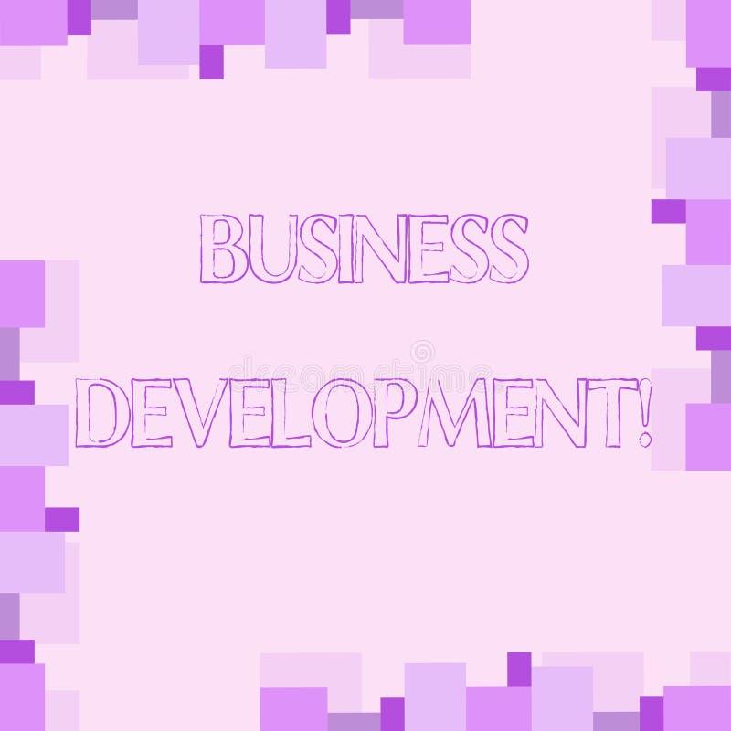 Handwriting teksta writing rozwój biznesu Pojęcia znaczenie Rozwija organizacja przyrosta sposobności i Uprawomocnia ilustracji