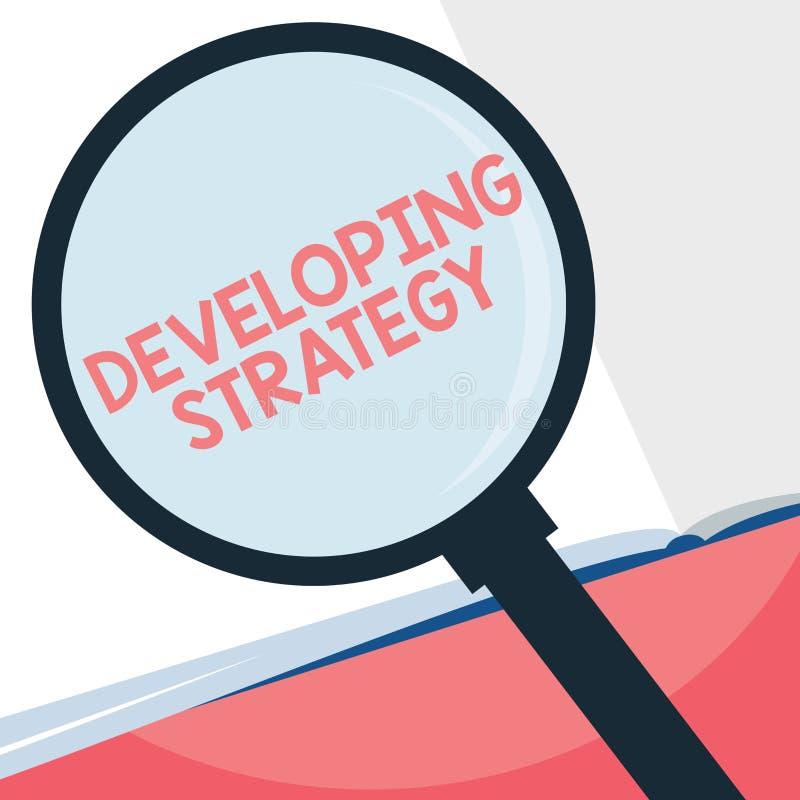 Handwriting teksta writing Rozwija strategia Pojęcia znaczenia organizacj proces Zmienia dosięgać cele ilustracja wektor