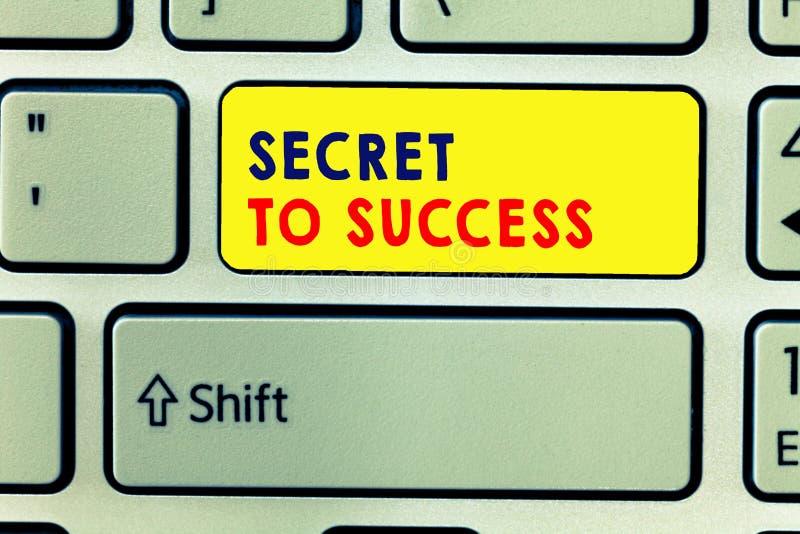 Handwriting teksta writing sekret sukces Pojęcie znaczy Niewytłumaczonego doścignięcie sława status społeczny lub bogactwo ilustracji