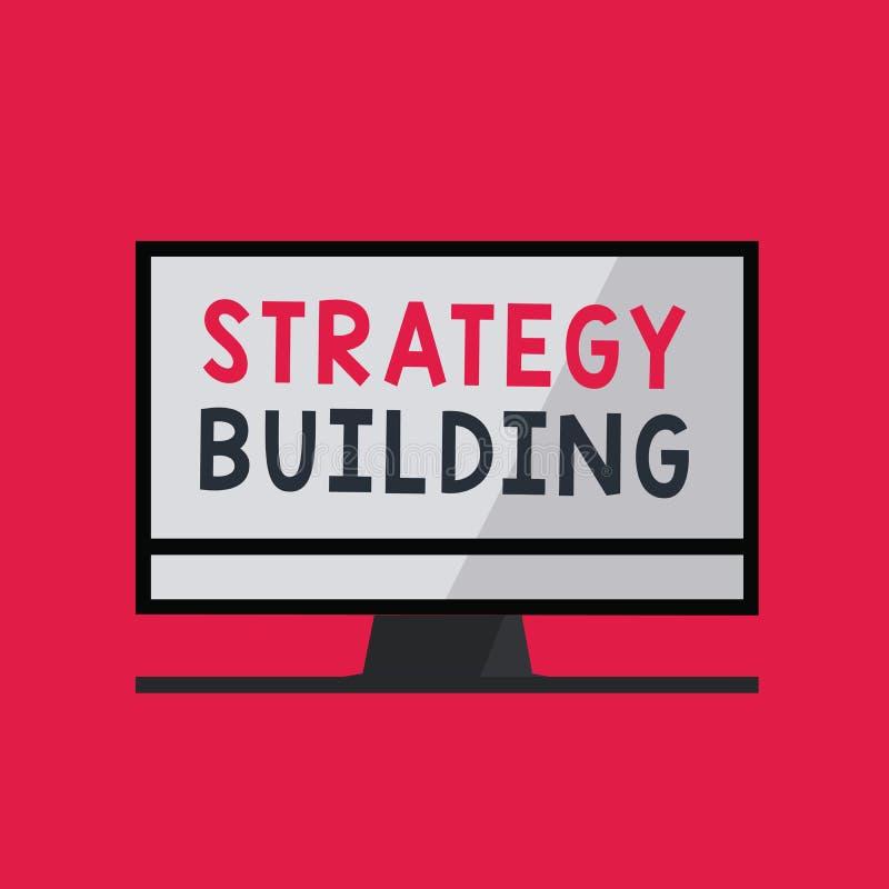 Handwriting teksta writing strategii Budować Pojęcia znaczenie Wspiera kupienie i nabywanie inny platformy royalty ilustracja