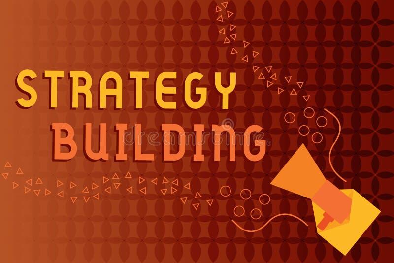 Handwriting teksta writing strategii Budować Pojęcia znaczenie Wspiera kupienie i nabywanie inny platformy ilustracja wektor
