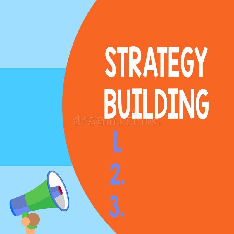 Handwriting teksta writing strategii Budowa? Pojęcia znaczenie Wspiera kupienie i nabywanie inny platformy połówki część ilustracja wektor