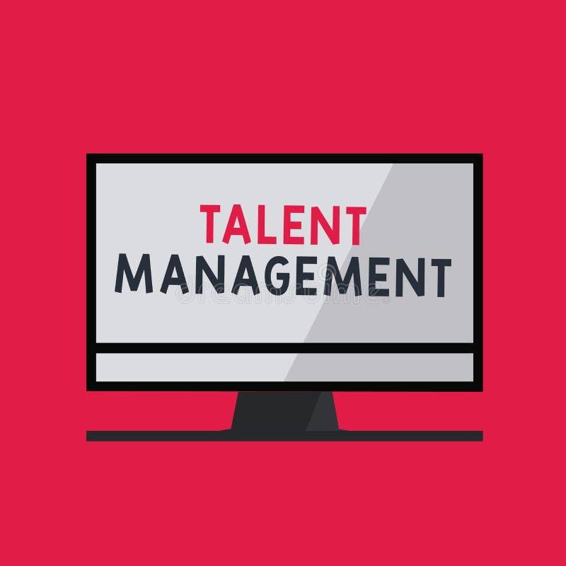 Handwriting teksta writing talentu zarządzanie Pojęcia znaczenia nabywanie zatrudnia utalentowanych pracowników i utrzymuje royalty ilustracja