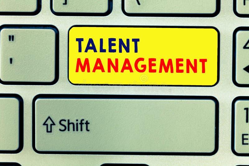 Handwriting teksta writing talentu zarządzanie Pojęcia znaczenia nabywanie zatrudnia utalentowanych pracowników i utrzymuje ilustracji