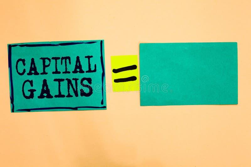 Handwriting teksta zyski kapitałowi Pojęcia znaczenie Spaja część zapasów zysku podatku dochodowego funduszy inwestycyjnych turku ilustracji