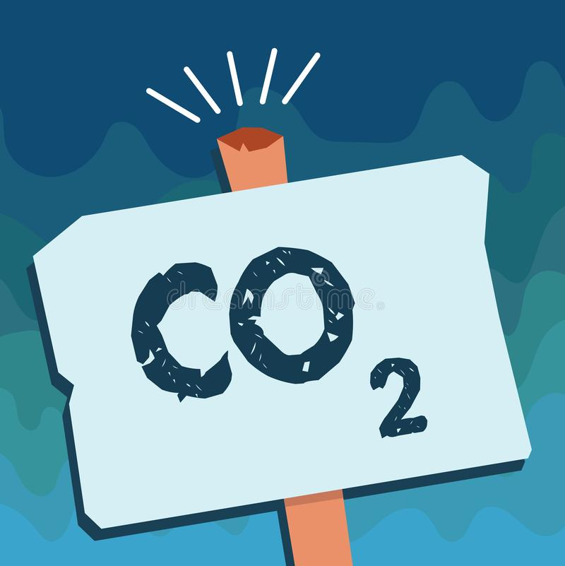 Handwriting text Co2. Concept meaning Noncombustible greenhouse gas that contributes to global warming.  vector illustration