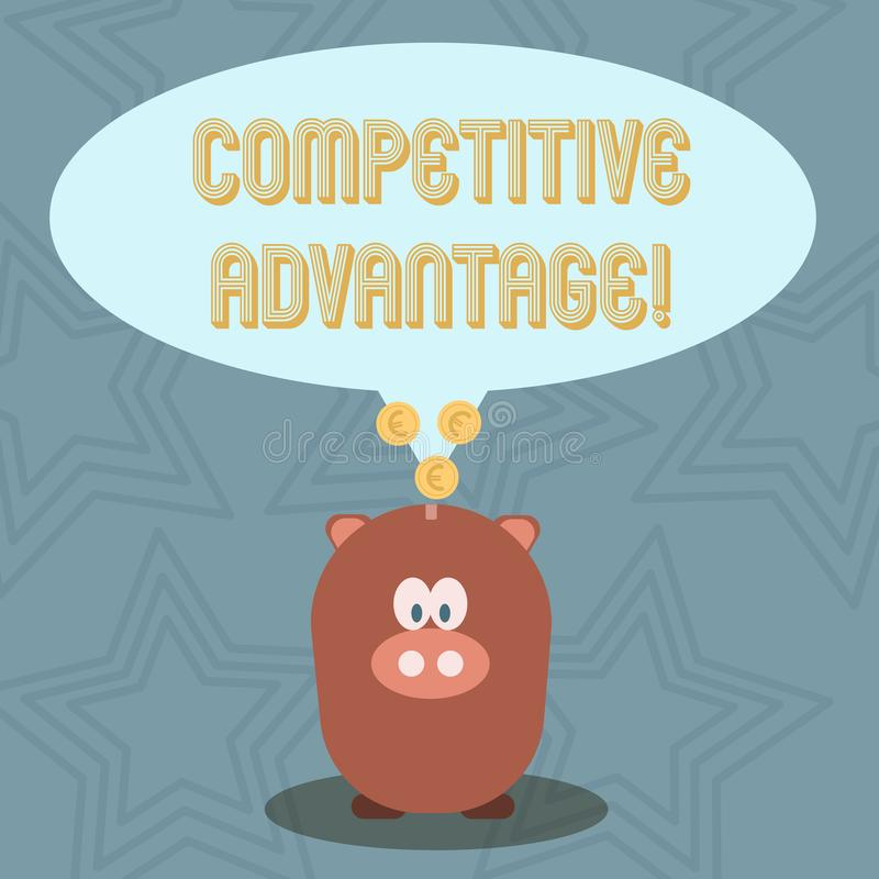 Handwriting text Competitive Advantage. Concept meaning owning quality that will assure you leading in field. Handwriting text Competitive Advantage. Conceptual stock illustration
