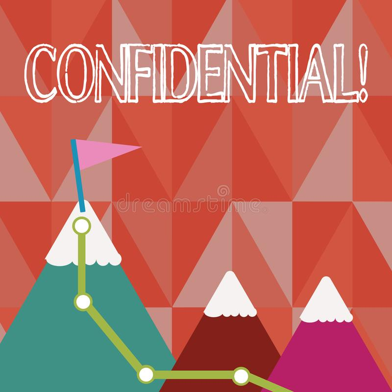 Handwriting text Confidential. Concept meaning Agreements between two parties are private and protected. Handwriting text Confidential. Concept meaning vector illustration