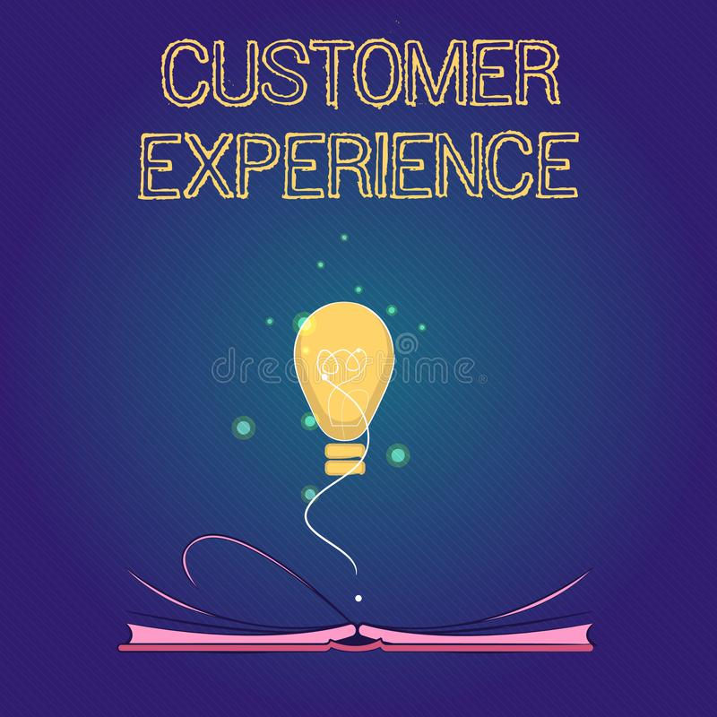 Handwriting text Customer Experience. Concept meaning Interaction between Satisfied Customer and Organization.  stock photography