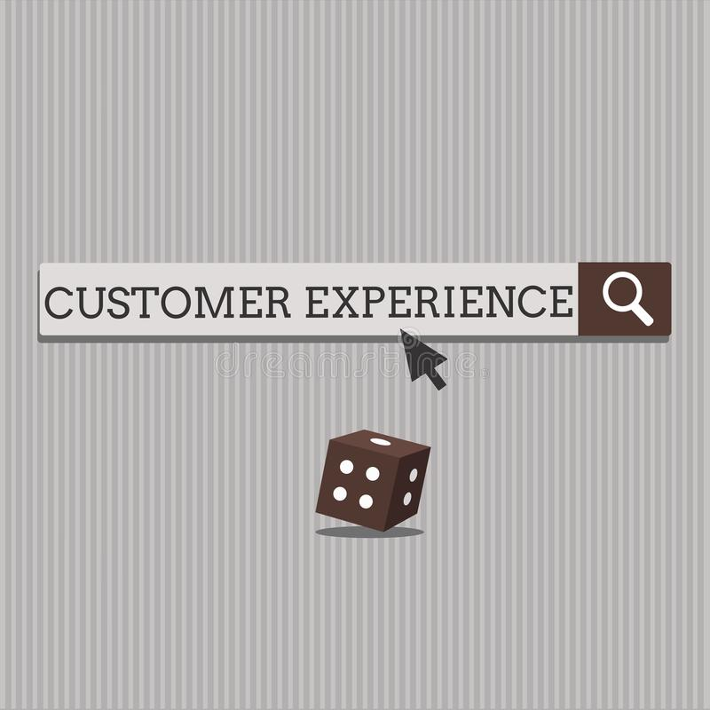 Handwriting text Customer Experience. Concept meaning Interaction between Satisfied Customer and Organization.  royalty free illustration