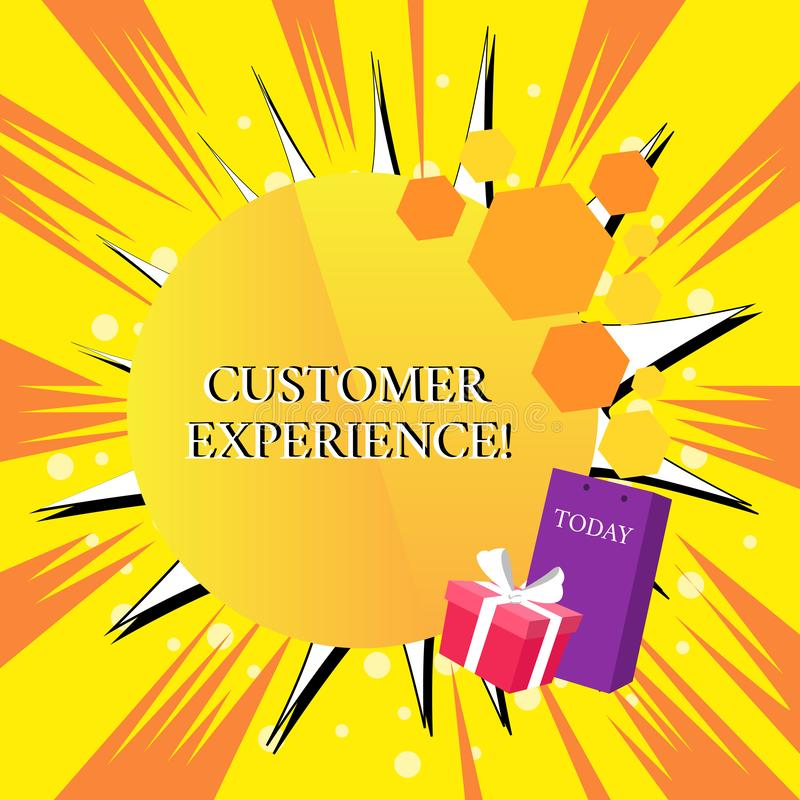 Handwriting text Customer Experience. Concept meaning Interaction between Satisfied Customer and Organization Greeting. Handwriting text Customer Experience royalty free illustration