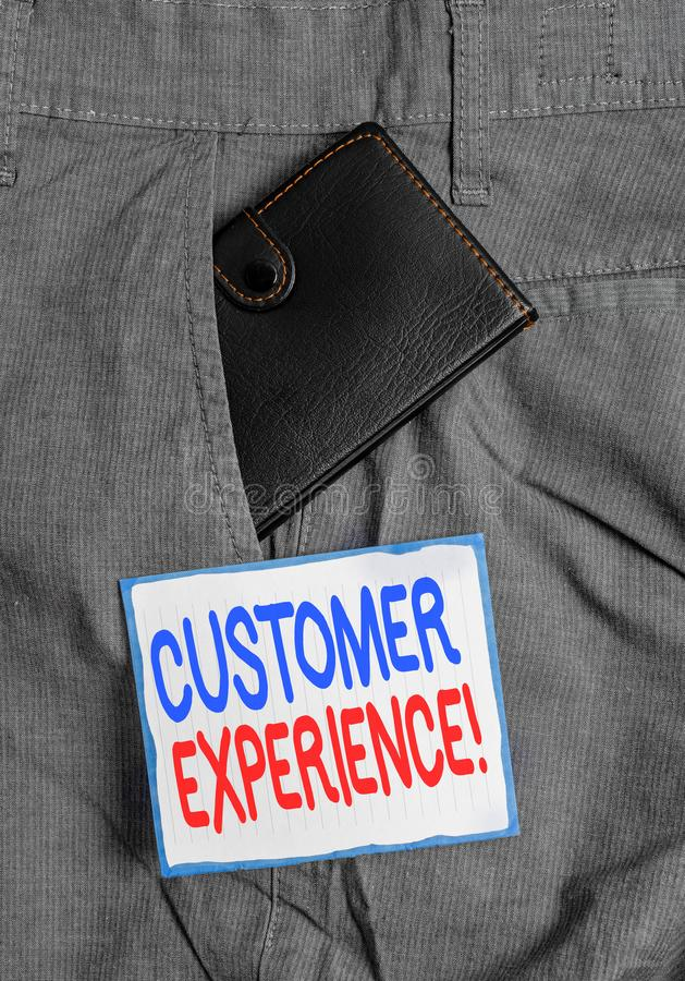 Handwriting text Customer Experience. Concept meaning product of interaction between organization and buyer Small little. Handwriting text Customer Experience stock photos