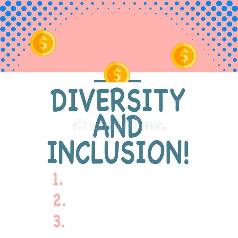 Handwriting text Diversity And Inclusion. Concept meaning range huanalysis difference includes race ethnicity gender. Handwriting text Diversity And Inclusion vector illustration