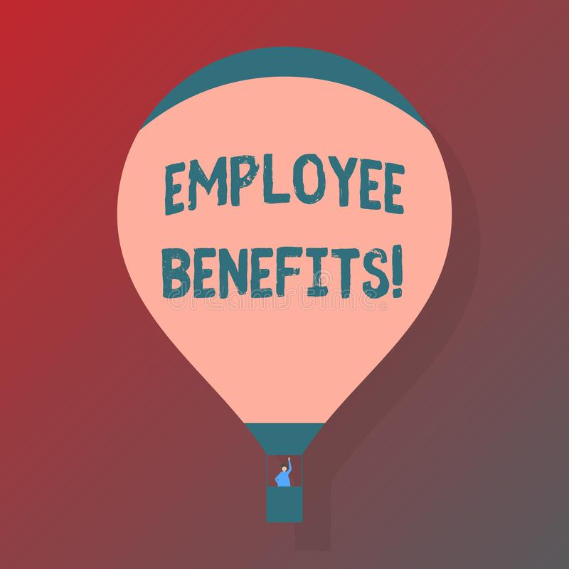 Handwriting text Employee Benefits. Concept meaning list of advantage recruiter get at work Insurance. Handwriting text Employee Benefits. Concept meaning list vector illustration