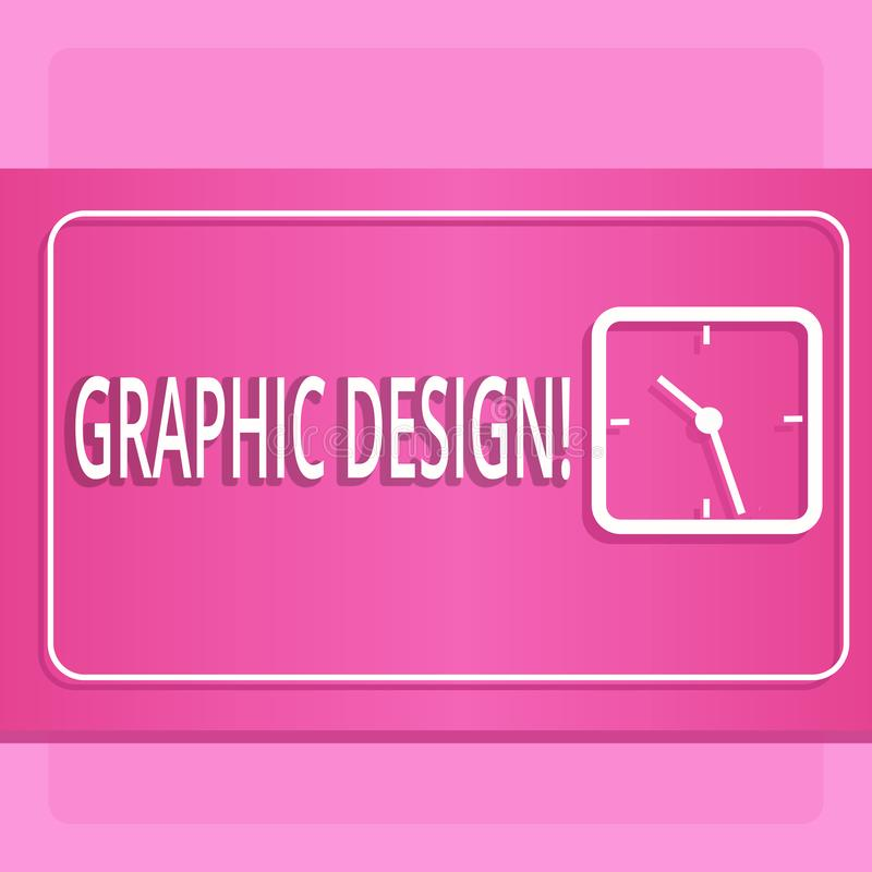 Handwriting text Graphic Design. Concept meaning Art of combining Text Images in advertising Modern Design of. Handwriting text Graphic Design. Conceptual photo stock illustration
