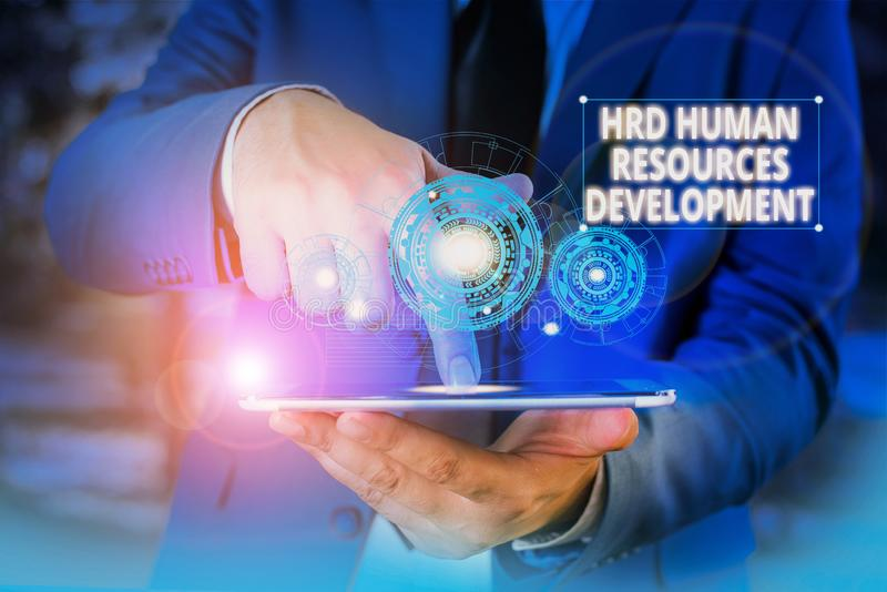 Handwriting text Hrd Huanalysis Resources Development. Concept meaning helping employees develop demonstratingal skills. Handwriting text Hrd Huanalysis stock photos
