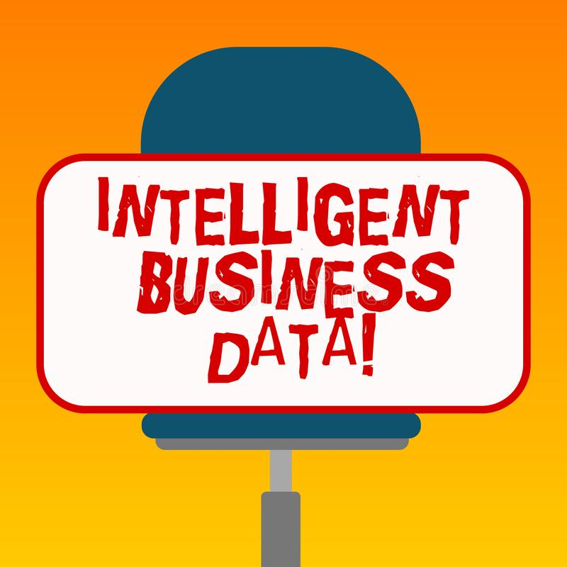 Handwriting text Intelligent Business Data. Concept meaning use of internal data to analyze the operations Blank. Rectangular Shape Sticker Sitting Horizontally vector illustration