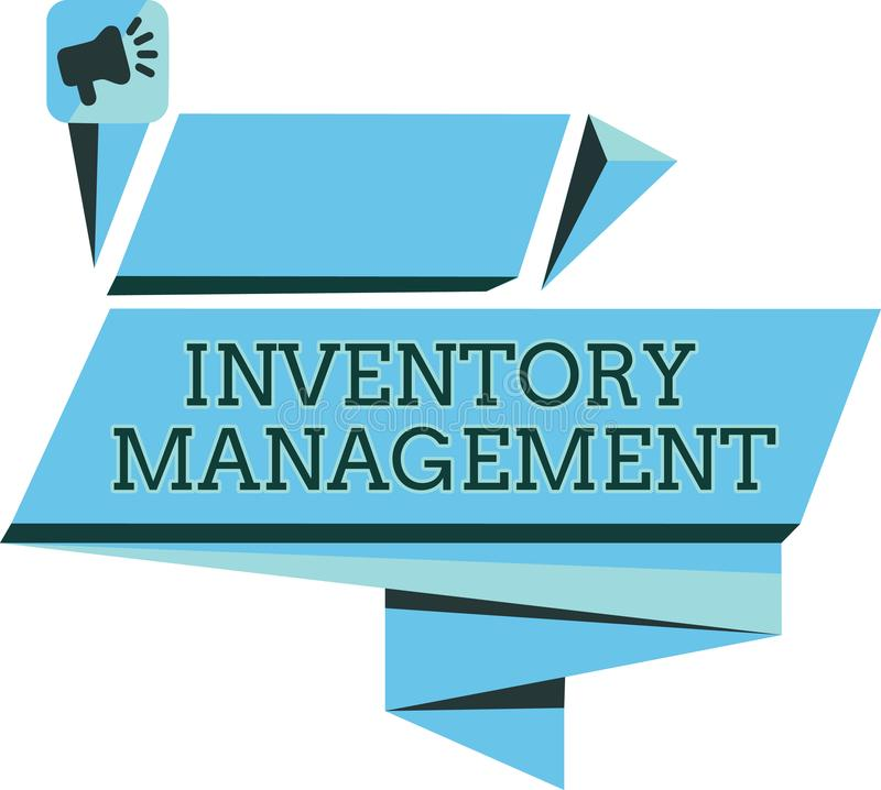 Handwriting text Inventory Management. Concept meaning Overseeing Controlling Storage of Stocks and Prices.  vector illustration