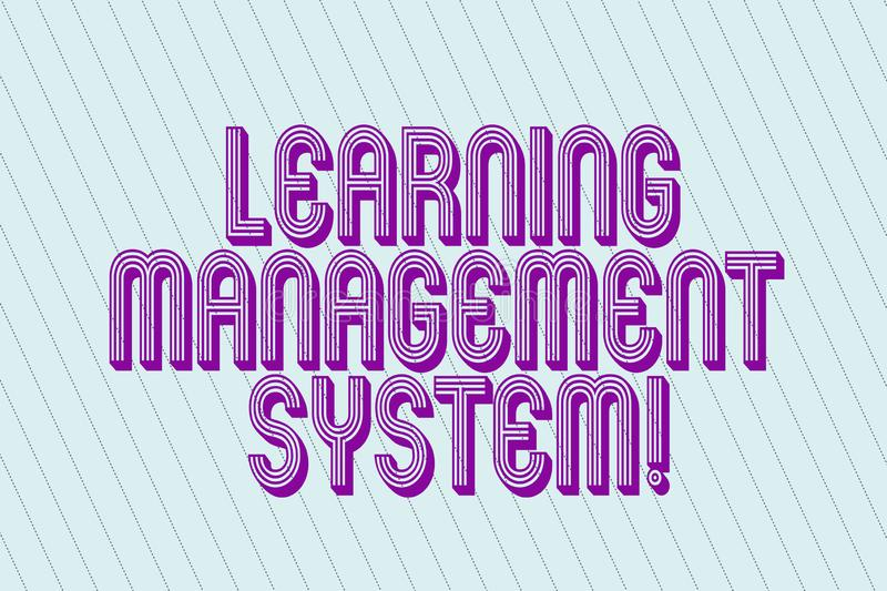 Handwriting text Learning Management System. Concept meaning software application that is used to administer Blank. Pastel Rectangle with Diagonal Seamless vector illustration