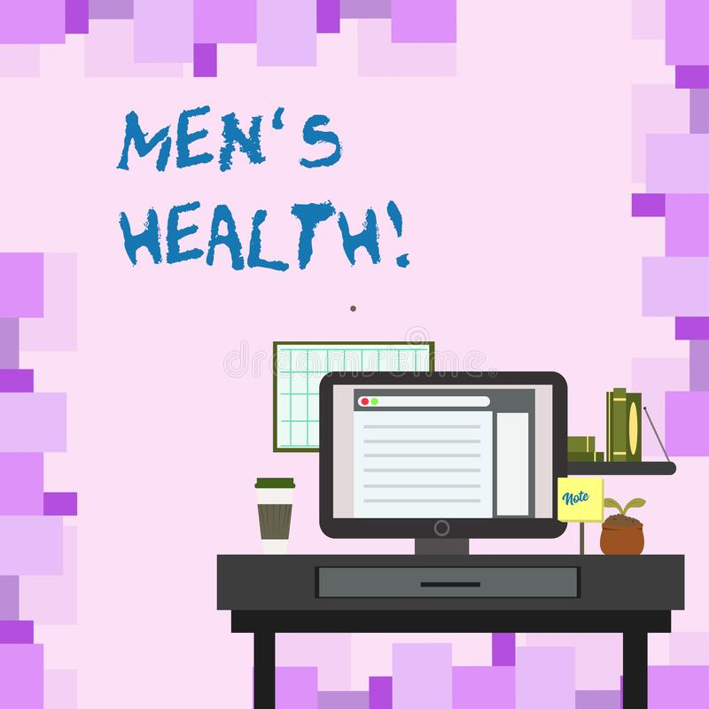 Handwriting Text Men S Health. Concept Meaning State Of ...