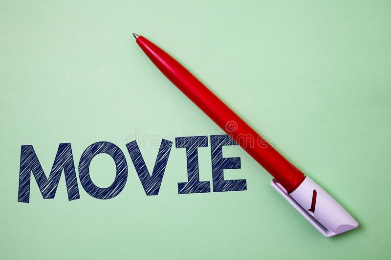 Handwriting text Movie. Concept meaning Cinema or television film Motion picture Video displayed on screen Ball point artwork smoo. Th parallel lines pattern stock photos