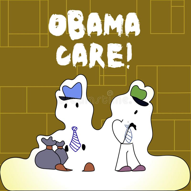 Handwriting text Obama Care. Concept meaning Government Program of Insurance System Patient Protection. Handwriting text Obama Care. Conceptual photo Government royalty free illustration