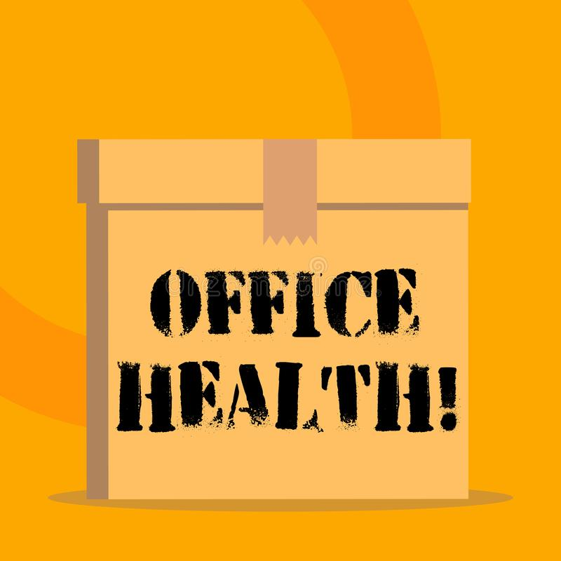 Handwriting Text Office Health. Concept Meaning Improves ...