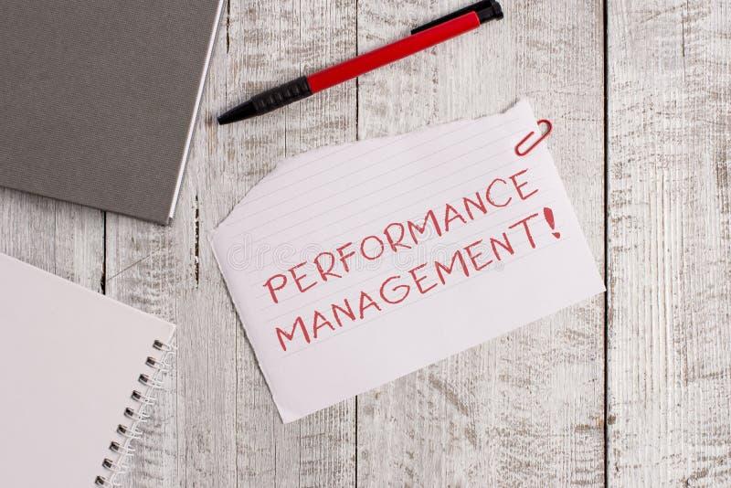 Handwriting text Perforanalysisce Management. Concept meaning Improve Employee Effectiveness overall Contribution Torn. Handwriting text Perforanalysisce stock photo