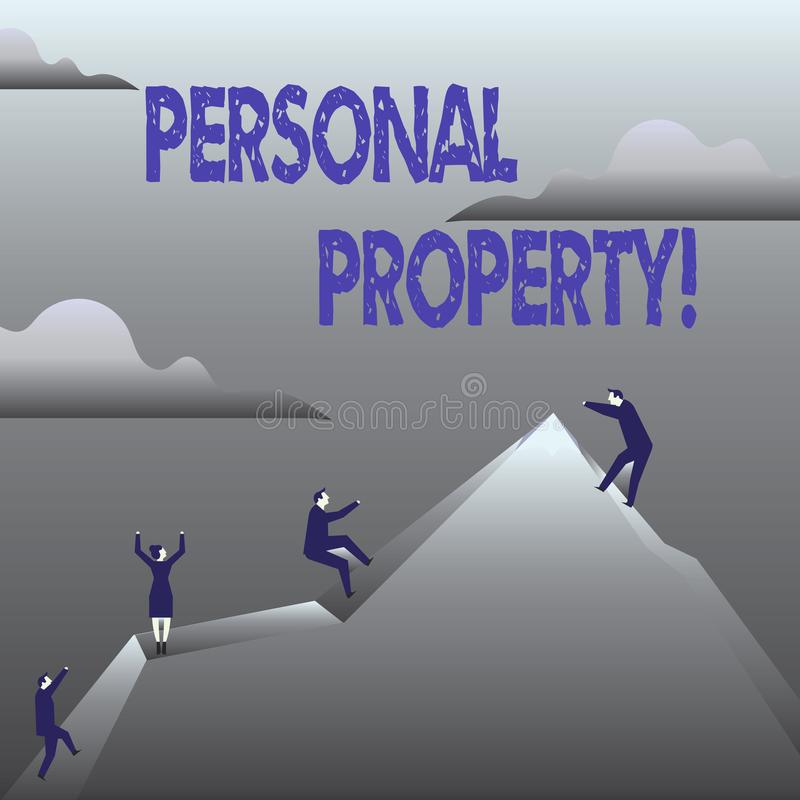 Handwriting text Personal Property. Concept meaning Belongings possessions assets private individual owner. Handwriting text Personal Property. Concept meaning vector illustration