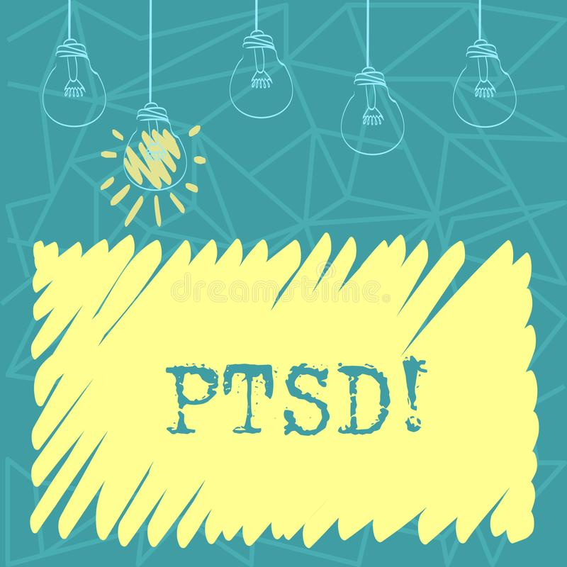 Handwriting Text Ptsd. Concept Meaning Post Traumatic
