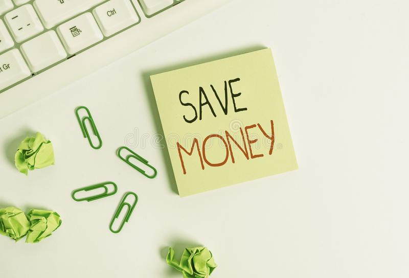 Handwriting text Save Money. Concept meaning store some of your cash every month to use them sometime later Square empty. Handwriting text Save Money. Conceptual royalty free stock photo