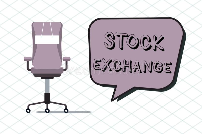 Handwriting text Stock Exchange. Concept meaning An electronic market where owners of businesses get together.  vector illustration