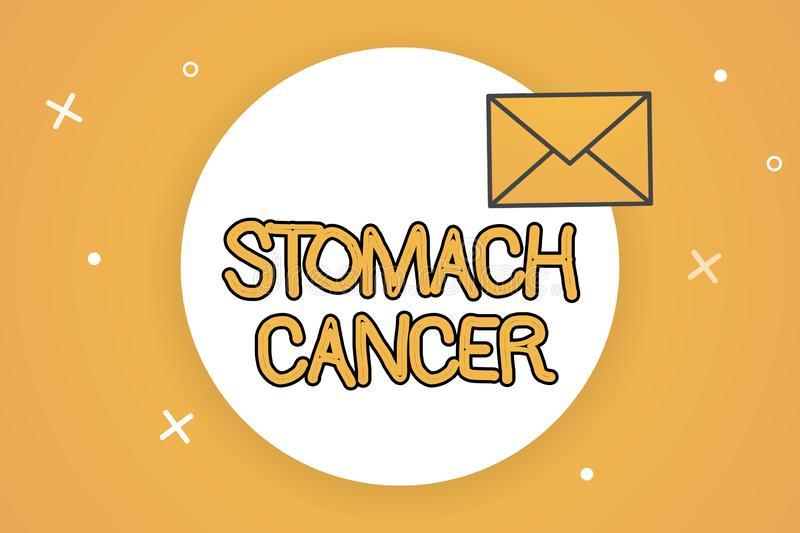 Handwriting text Stomach Cancer. Concept meaning Malignant tumor of the stomach that starts at the lining.  vector illustration