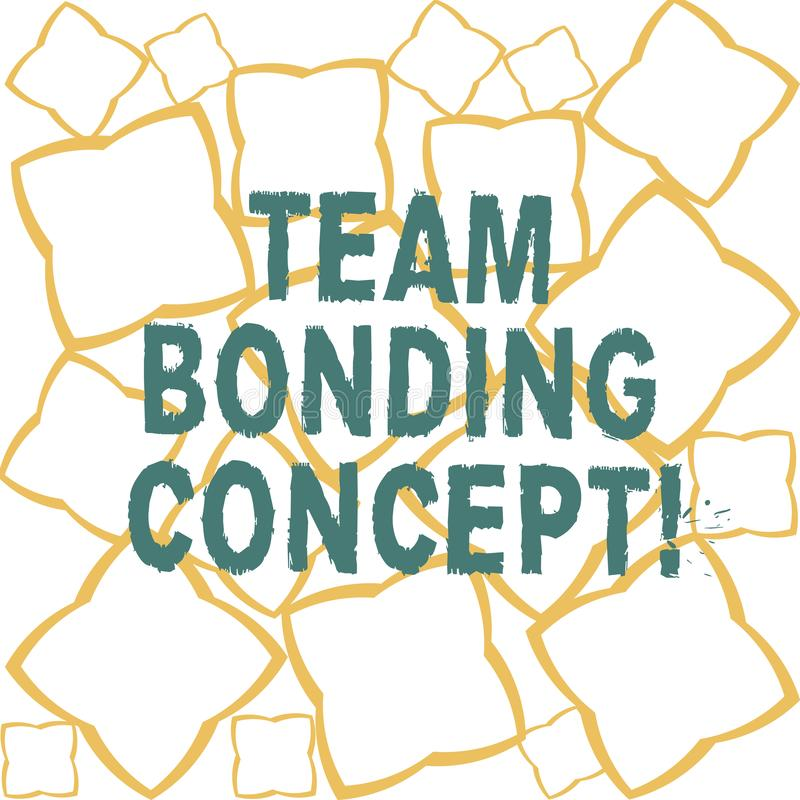 Handwriting text Team Bonding Concept. Concept meaning Improve workplace projects that involve teamwork Ribbon Strips stock illustration